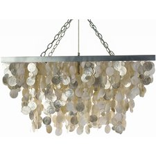 3-light-cascade-capiz-pendant Capiz Shell Chandeliers
