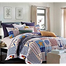 3-piece-anchors-away-quilt Nautical Bedding Sets & Nautical Bedspreads