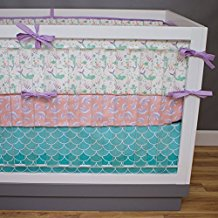 3-piece-mermaid-crib-bedding-set-by-modified-tot Nautical Crib Bedding and Beach Crib Bedding