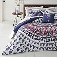 5-Piece-Bohemian-Medallion-Patterned-Comforter-Set-King-Size-Featuring-Tribal-Boho- Bohemian Bedding and Boho Bedding Sets