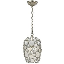 523-SA-Palla-1LT-Pendant-Antique-Silver-Finish-with-Natural-White-Capiz-Shell-and-Hand-Cut-Crystal-449 Capiz Shell Chandeliers