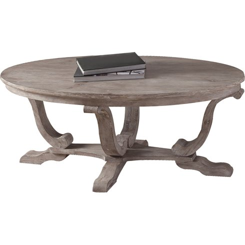 Balisier-Round-Wood-Coffee-Table Beach Coffee Tables and Coastal Coffee Tables