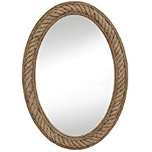Bassett-Mirror-M3646EC-Rope-Wall-Mirror-Jute Rope Mirrors and Rope Hanging Mirrors
