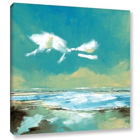 Beach-I-Painting-Print-on-Wrapped-Canvas Beach Paintings and Coastal Paintings