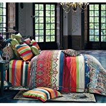 Bohemian-Duvet-Cover-Striped-Ethnic-Boho-Reversible Bohemian Bedding and Boho Bedding Sets