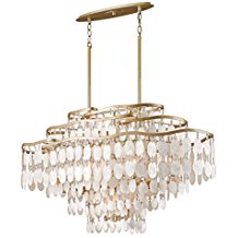 Champagne-Leaf-Dolce-12-Light-Linear-Chandelier-with-Hand-Crafted-Iron-Frame-and-Authentic-Capiz-Shell-Accents-3260 Capiz Shell Chandeliers