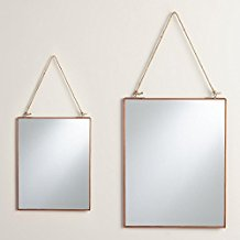 Copper-Rectangular-Metal-Reese-Mirror Rope Mirrors and Rope Hanging Mirrors