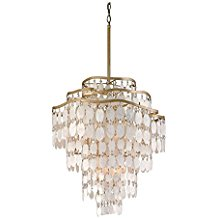 Corbett-28573969-Corbett-Twelve-Light-Champagne-Leaf-Down-Chandelier-2266 Capiz Shell Chandeliers