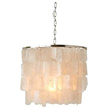Creative-Co-Op-Rod-Capiz-Strips-Chandelier-280 Capiz Shell Chandeliers