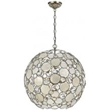 Crystorama-Lighting-Chandelier-with-Natural-White-Capiz-Shell-1550 Capiz Shell Chandeliers