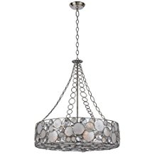 Crystorama-Palla-8-Light-Antique-Silver-Chandelier-1299 Capiz Shell Chandeliers