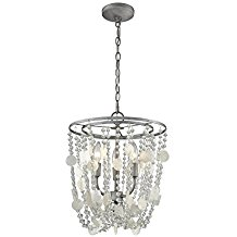 Elk-Lighting-159353-Alexandra-Three-Light-Chandelier-398 Capiz Shell Chandeliers
