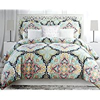 Envogue-Colorful-Boho-Chic-Bedding-Bohemian-Large-Moroccan-Medallions-Duvet-Cover- Bohemian Bedding and Boho Bedding Sets