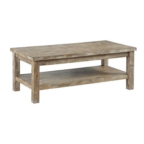 Flores Wood Coastal Coffee Table Beach Tables And