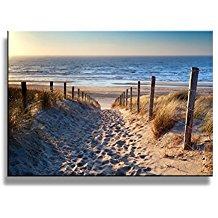 Footprints-beach-Wall-Art-oil-Paintings-Printed-Pictures- Beach Paintings and Coastal Paintings