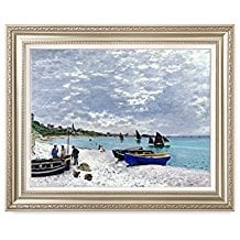 Framed-Art-Print-Monets-Beach-at-Sainte‑Adresse 75+ Beach Paintings and Coastal Paintings 2020