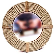 Hand-Crafted-Nautical-Premium-Wall-Decor-Rope-Accentuated-Mirror Rope Mirrors and Rope Hanging Mirrors
