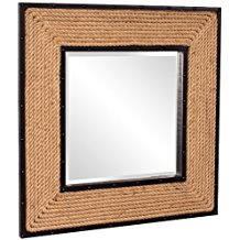 Howard-Elliott-13246-South-Hampton-Rope-Square-Mirror Rope Mirrors and Rope Hanging Mirrors