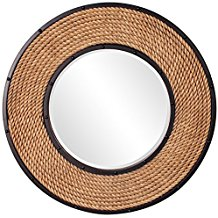 Howard-Elliott-13248-South-Hampton-Rope-Round-Mirror Rope Mirrors and Rope Hanging Mirrors