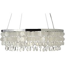 KOUBOO-Capiz-Ring-Chandelier-Natural-White Capiz Shell Chandeliers