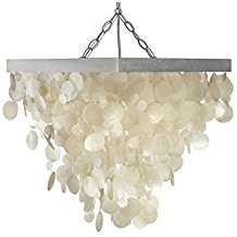 KOUBOO-Capiz-Seashell-Rain-Drop-Pendant-Lamp-225 Capiz Chandeliers and Capiz Shell Chandeliers