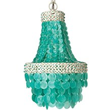 KOUBOO-Manor-Chandelier-Capiz-Seashell-Small-Turquoise-295 Capiz Shell Chandeliers