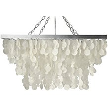 KOUBOO-Rectangular-Rain-Drop-Capiz-Pendant-Lamp-510 Capiz Shell Chandeliers