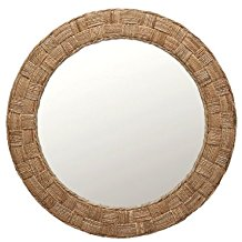 KOUBOO-Round-Rope-Wall-Mirror-Chequered Rope Mirrors and Rope Hanging Mirrors