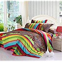 LELVA-Colorful-Bohemian-Style-Bedding-Striped-Boho-Ethnic-Duvet-Cover 100+ Best Bohemian Bedding and Boho Bedding Sets For 2020