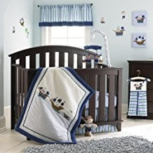 Laura-Ashley-Baby-4-Piece-Crib-Set-Pirate-Adventure Nautical Crib Bedding and Beach Crib Bedding