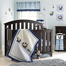Laura-Ashley-Baby-4-Piece-Crib-Set-Pirate-Adventure Nautical Crib Bedding & Beach Crib Bedding Sets