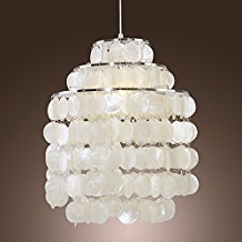 LightInTheBox-White-Shell-Pendant-Chandelier-Chrome-Finish-91 Capiz Shell Chandeliers
