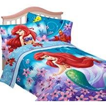 Little-Mermaid-Flowers-Comforter-Set Mermaid Bedding Sets and Mermaid Comforter Sets