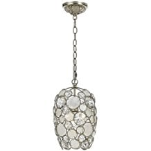 Mini-Chandeliers-1-Light-With-Antique-Silver-Natural-White-Capiz-Shell-410 Capiz Shell Chandeliers