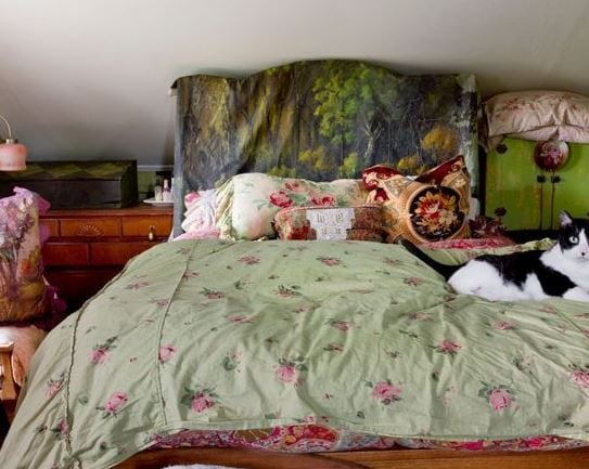 My-Houzz-Layers-of-Patina-and-an-Artists-Touch-by-Rikki-Snyder Bohemian Bedding and Boho Bedding Sets