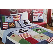 Norson-pirates-of-the-caribbean-quilt Pirate Bedding Sets and Pirate Comforter Sets