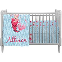 Personalized-Mermaid-Crib-Comforter-Quilt Nautical Crib Bedding and Beach Crib Bedding
