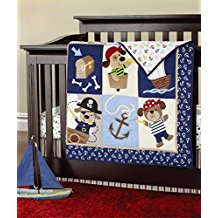 Pirates-of-the-Caribbean-7pcs-crib-set-Baby-Bedding-Set-Crib-Bedding-Set Nautical Crib Bedding and Beach Crib Bedding