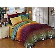 Rainbow-Tree-3pc-Bedding-Set Bohemian Bedding and Boho Bedding Sets