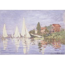 Regatta-at-Argenteuil-Painting Beach Paintings and Coastal Paintings