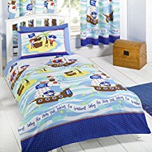 Seven-Seas-Pirates-Junior-Duvet-Cover-and-Pillowcase-Set 100+ Nautical Duvet Covers and Nautical Coverlets For 2020
