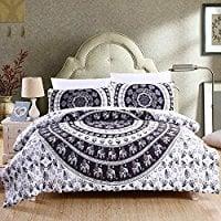 Sleepwish-7PCS-Comforter-Set-Bed-in-A-Bag-Vanitas-Quilt 100+ Best Bohemian Bedding and Boho Bedding Sets For 2020