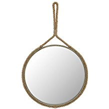 Stonebriar-Round-Decorative-Mirror Rope Mirrors and Rope Hanging Mirrors