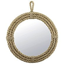 Stonebriar-Small-Round-Wrapped-Rope-Mirror Rope Mirrors and Rope Hanging Mirrors