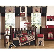 Sweet-Jojo-Designs-Treasure-Cove-Pirate-Red-Black-Ship-Baby-Boy-Bedding Nautical Crib Bedding & Beach Crib Bedding Sets