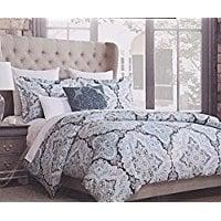 Tahari-Home-Turquoise-Pascal-Aquarelle-Paisley-3pc-Duvet-Cover-Set- Bohemian Bedding and Boho Bedding Sets