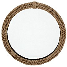 Teton-Home-Wood-Wall-Mirror-with-Rope-Frame Rope Mirrors and Rope Hanging Mirrors