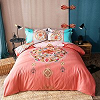 TheFit-Paisley-Textile-Bedding-for-Adult-U1192-Pink-Peacock-Tail-Boho Bohemian Bedding and Boho Bedding Sets