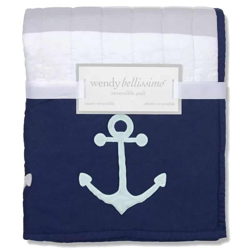 Wendy-Bellissimo-Landon-Reversible-Anchor-Quilt Anchor Bedding Sets and Anchor Comforter Sets