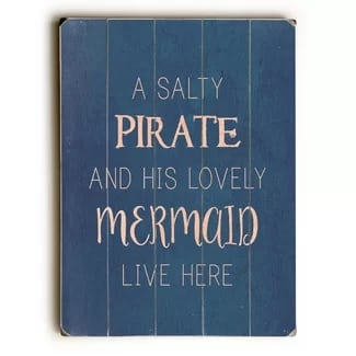 a-salty-pirate-and-mermaid-wooden-beach-sign The Best Wooden Beach Signs You Can Buy